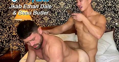 Beau Butler with another muscle stud, but ends up being the bottom bitch! I like to go somewhere warm when winter arrives. I hate cold weather.