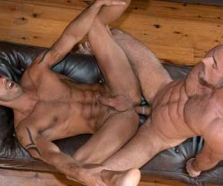 TitanMen exclusive Dirk Jager and Alexy Tyler From the subdued comfort of his living room, Alexy Tyler spies TitanMen exclusive Dirk Jager through the window with his binoculars and follows him into the forest.