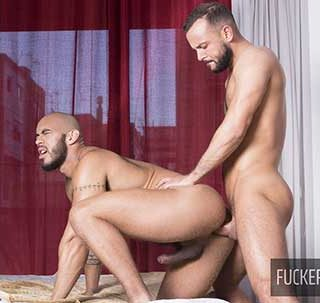 Hairy muscled stud Louis Ricaute is back with us this week for a burning bareback encounter with one of our best tops around. Sir Peter has been waiting for him on the bedroom and...
