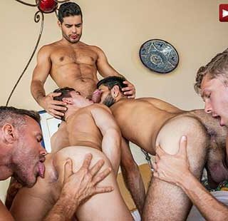 Watch the FIRST INSTALLMENT of this 11-man bareback orgy! There was a sexual energy in Puerto Vallarta during the February 2021 production that could not be tamed and why should it be?
