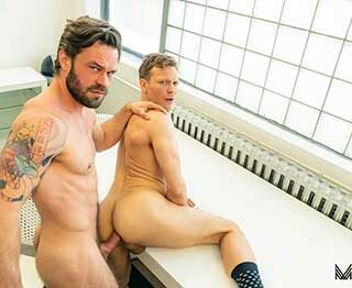 It's hard to focus on web coding when you're the only one at the office and horny! Ethan Chase logs in to Rent Men, browsing through the ads in search of a local escort that is available and open to making an in-call.