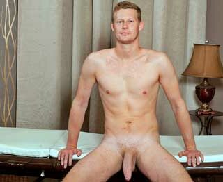 Radek Pozer is aged 18. He if from Jihlava and is a student. In his spare time Radek enjoys movies, athletics and soccer. He is very relaxed as he rests his ass on the massage table and does his interview.