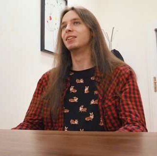 This long-haired young Dirty Scout 273 man was looking for a job in Prague before moving there. He studied to be a nurse but never worked in healthcare.